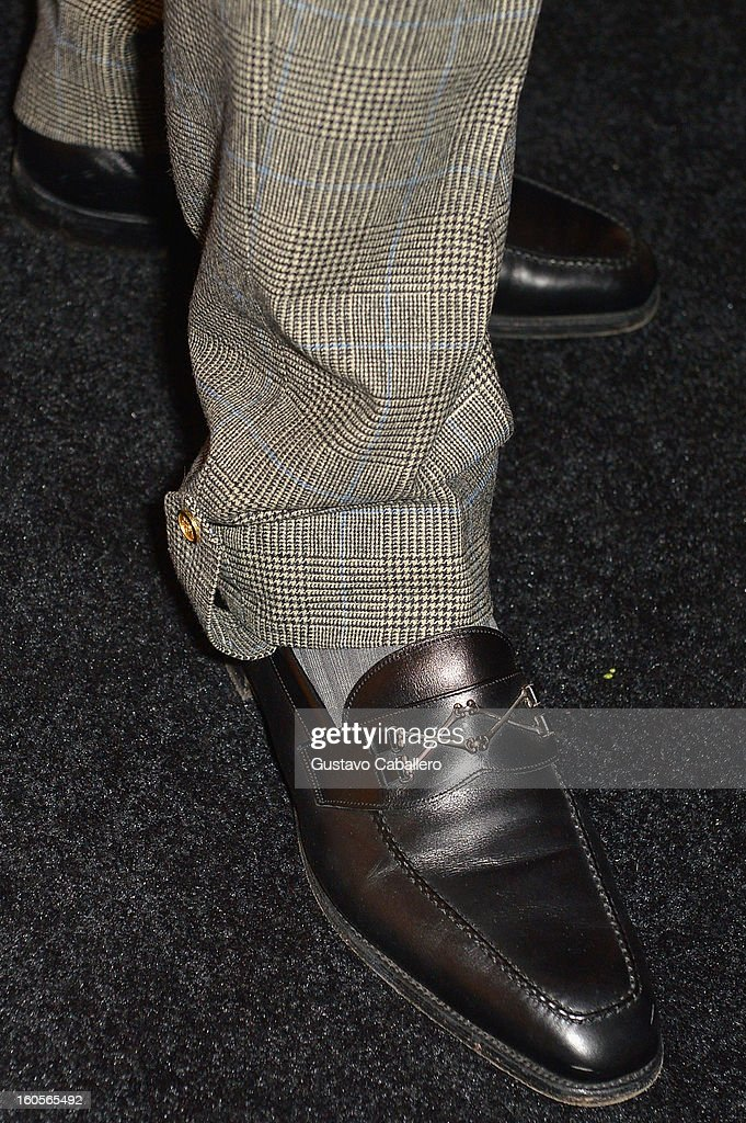 Terry Crews (shoe detail) attends the Super Bowl party sponsored by Lacoste and Mercedes-Benz at The Elms Mansion on February 2, 2013 in New Orleans, Louisiana.