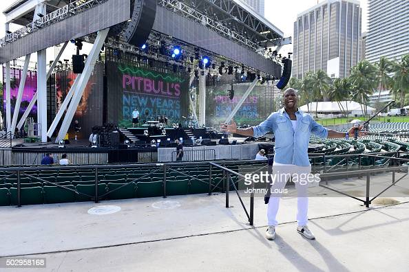 Terry Crews during Pitbull's New Year's Revolution rehearsal at Bayfront Park Amphitheater on December 30 2015 in Miami Florida