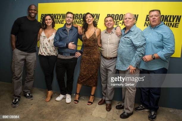 Terry Crews Melissa Fumero Andy Samberg Dan Goor Stephanie Beatriz Joe Lo Truglio Dirk Blocker and Joel McKinnon Miller attend Fox's 'Brooklyn...