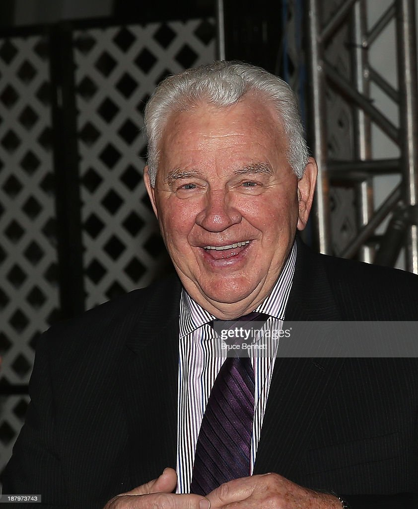 Terry Crisp walks the red carpet prior to the 2013 Hockey Hall of Fame induction ceremony on November 11, 2013 in Toronto, Canada.