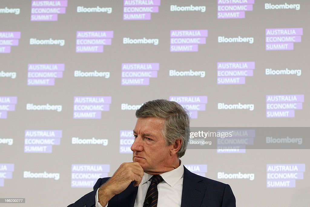 Terry Davis, chief executive officer of Coca-Cola Amatil Ltd., attends the Bloomberg Australia Economic Summit in Sydney, Australia, on Wednesday, April 10, 2013. Davis said the strong Australian currency is decimating some manufacturers. Photographer: Brendon Thorne/Bloomberg via Getty Images