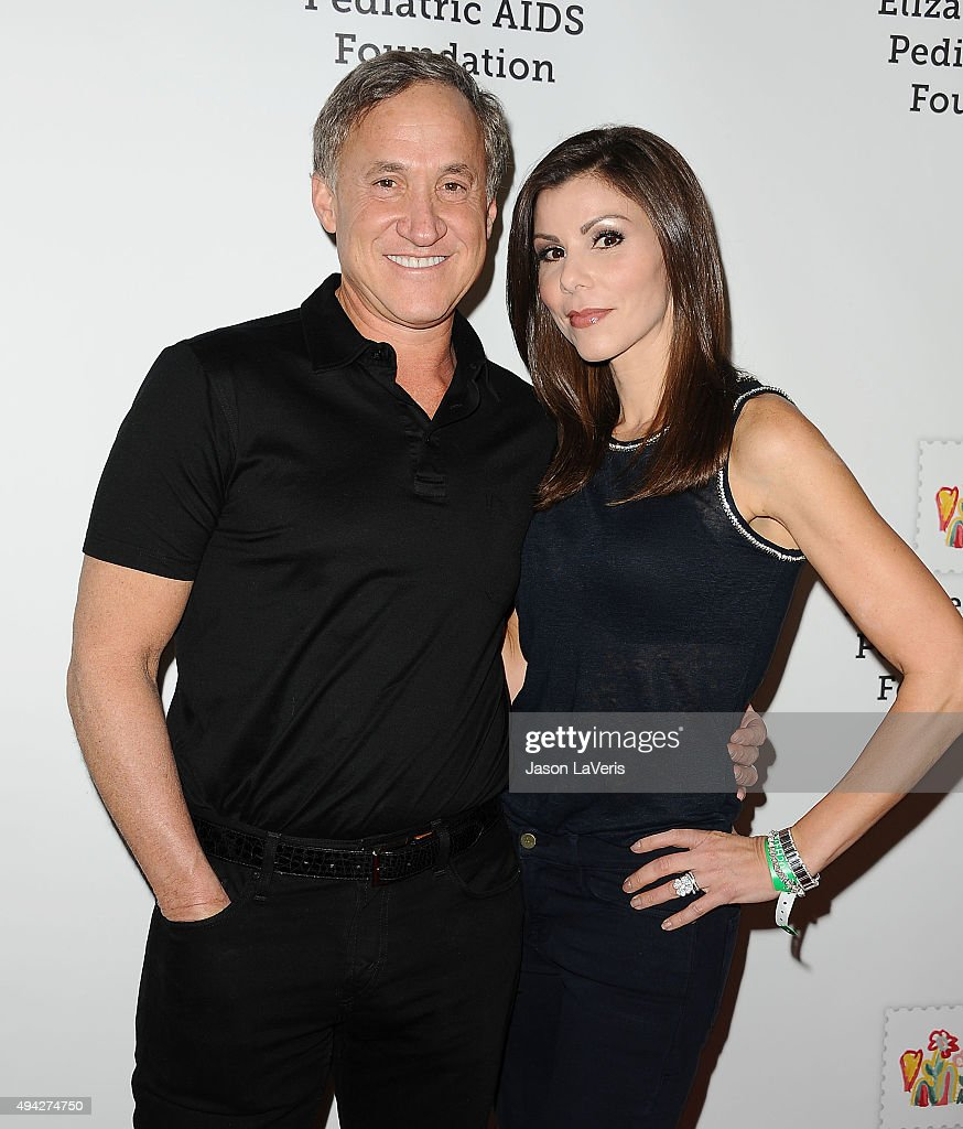 Terry Dubrow and Heather Dubrow attend the Elizabeth Glaser Pediatric AIDS Foundation's 26th A Time For Heroes family festival at Smashbox Studios on October 25, 2015 in Culver City, California.