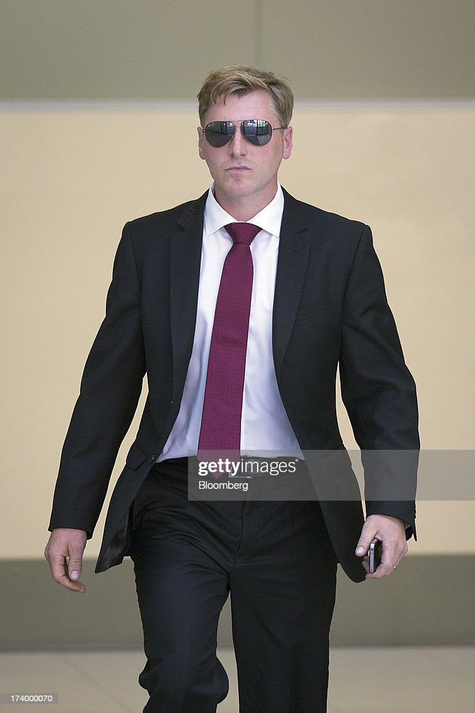 Terry Farr, a former broker at RP Martin Holdings Ltd., leaves after appearing at Westminster Magistrates Court in London, U.K., on Friday, July 19, 2013. Two former RP Martin Holdings Ltd. employees, Farr, and James Gilmour, who became the first brokers to face prosecution in the global probe of manipulation of the London interbank offered rate made their first appearance in a London courtroom. Photographer: Simon Dawson/Bloomberg via Getty Images