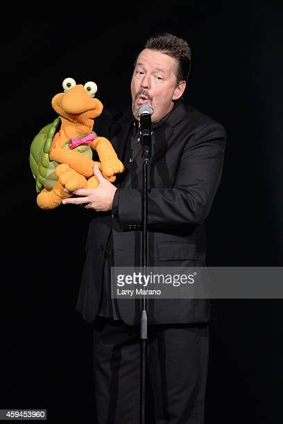 Terry Fator performs at Hard Rock Live in the Seminole Hard Rock Hotel Casino on November 22 2014 in Hollywood Florida