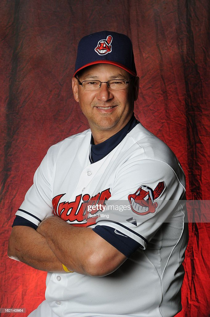 <a gi-track='captionPersonalityLinkClicked' href=/galleries/search?phrase=Terry+Francona&family=editorial&specificpeople=171936 ng-click='$event.stopPropagation()'>Terry Francona</a> #17 of the Cleveland Indians poses during MLB photo day at the Goodyear Ballpark on February 19, 2013 in Goodyear, Arizona.