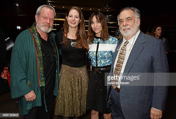 Terry Gilliam Amy Gilliam Gia Coppola and Francis Ford Coppola attend the Liberatum Cultural Honour for Francis Ford Coppola at The Bulgari Hotel on...