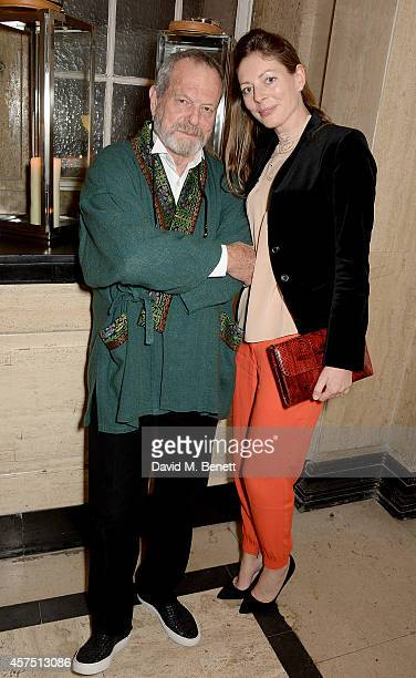 Terry Gilliam and Amy Gilliam attend the party for the Closing Night Gala Premiere for 'Fury' during the 58th BFI London Film Festival at Odeon...