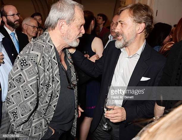 Terry Gilliam and Christoph Waltz attend an after party celebrating the press night performance of 'Benvenuto Cellini' directed by Terry Gilliam for...