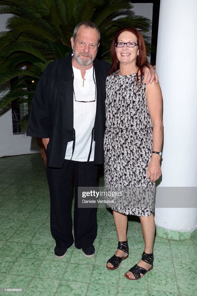 <a gi-track='captionPersonalityLinkClicked' href=/galleries/search?phrase=Terry+Gilliam&family=editorial&specificpeople=221636 ng-click='$event.stopPropagation()'>Terry Gilliam</a> and Maggie Weston attend Day 2 of the 2012 Ischia Global Fest on July 9, 2012 in Ischia, Italy.