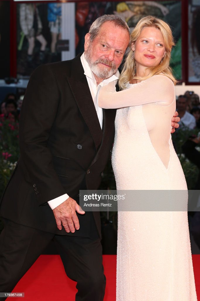 <a gi-track='captionPersonalityLinkClicked' href=/galleries/search?phrase=Terry+Gilliam&family=editorial&specificpeople=221636 ng-click='$event.stopPropagation()'>Terry Gilliam</a> and <a gi-track='captionPersonalityLinkClicked' href=/galleries/search?phrase=Melanie+Thierry&family=editorial&specificpeople=591332 ng-click='$event.stopPropagation()'>Melanie Thierry</a> attend 'The Zero Theorem' Premiere during the 70th Venice International Film Festival at the Palazzo del Cinema on September 2, 2013 in Venice, Italy.