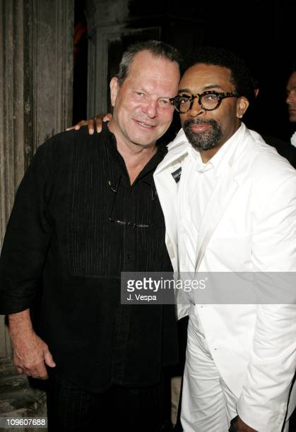 Terry Gilliam and Spike Lee during 2005 Venice Film Festival 'Casanova' Party Inside at Palazzo Ducale in Venice Lido Italy