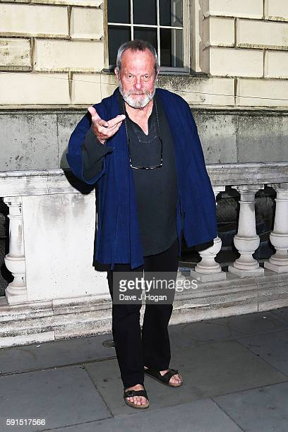 Terry Gilliam arrives for the 'Captain Fantastic' UK film premiere part of the Film4 Summer Series at Somerset House on August 17 2016 in London...