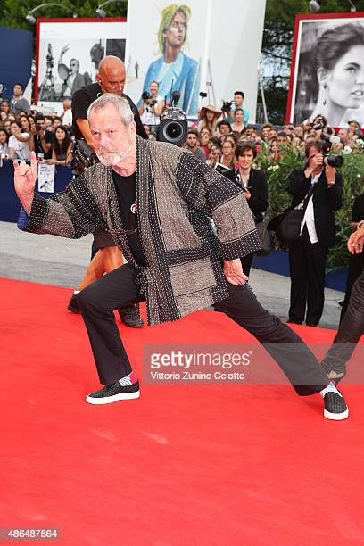 Terry Gilliam attends a premiere for 'Black Mass' during the 72nd Venice Film Festival at on September 4 2015 in Venice Italy