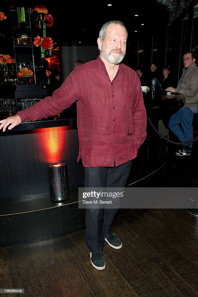 <a gi-track='captionPersonalityLinkClicked' href=/galleries/search?phrase=Terry+Gilliam&family=editorial&specificpeople=221636 ng-click='$event.stopPropagation()'>Terry Gilliam</a> attends an after party following the UK Premiere of 'Django Unchained' at Aqua on January 10, 2013 in London, England.