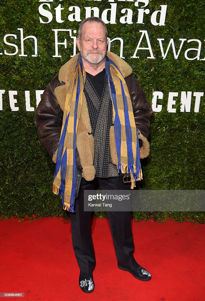 <a gi-track='captionPersonalityLinkClicked' href=/galleries/search?phrase=Terry+Gilliam&family=editorial&specificpeople=221636 ng-click='$event.stopPropagation()'>Terry Gilliam</a> attends the London Evening Standard British Film Awards at Television Centre on February 7, 2016 in London, England.