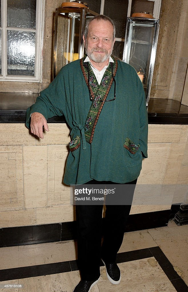 Terry Gilliam attends the party for the Closing Night Gala Premiere for 'Fury' during the 58th BFI London Film Festival at Odeon Leicester Square on...