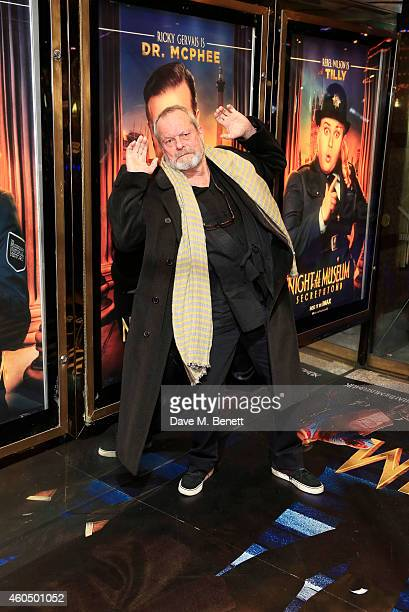 Terry Gilliam attends the UK Premiere of 'Night At The Museum Secret Of The Tomb' at Empire Leicester Square on December 15 2014 in London England
