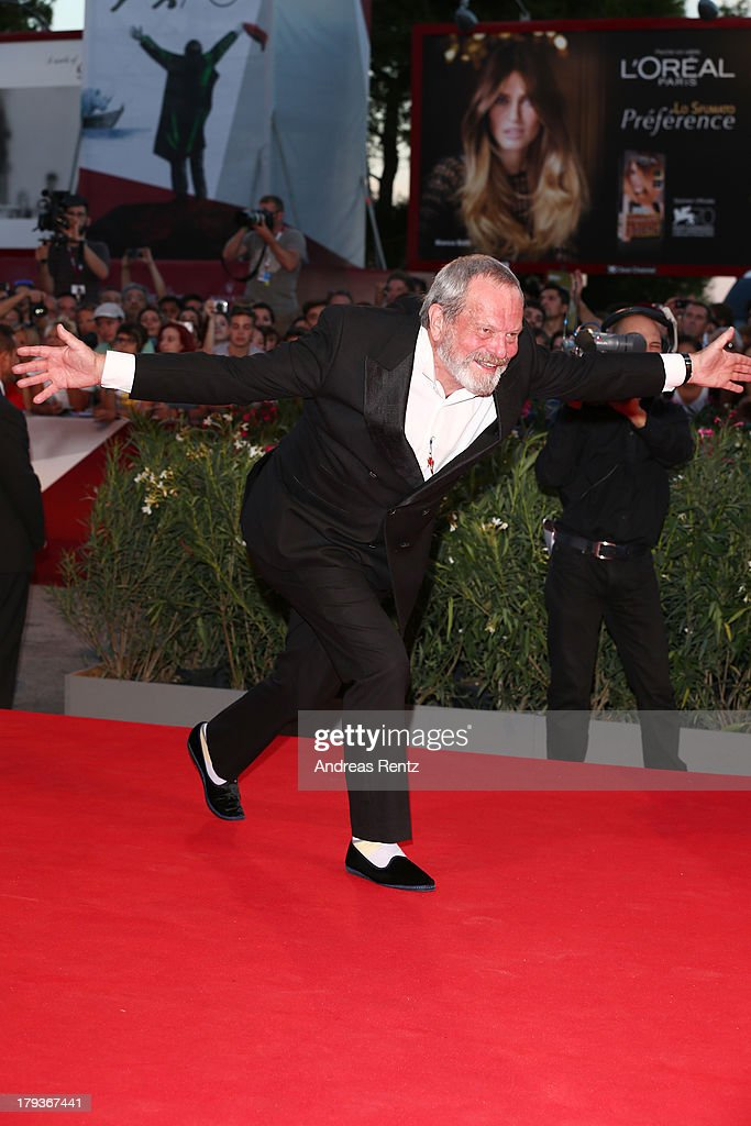 <a gi-track='captionPersonalityLinkClicked' href=/galleries/search?phrase=Terry+Gilliam&family=editorial&specificpeople=221636 ng-click='$event.stopPropagation()'>Terry Gilliam</a> attends 'The Zero Theorem' Premiere during the 70th Venice International Film Festival at the Palazzo del Cinema on September 2, 2013 in Venice, Italy.
