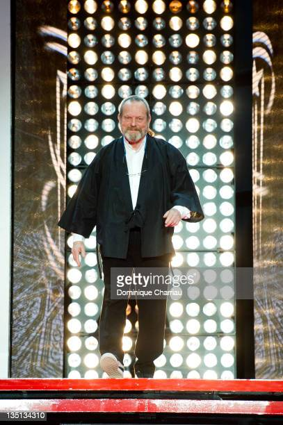 Terry Gilliam is honoured with an awarded during a tribute at the Marrakech International Film Festival 2011 on December 6 2011 in Marrakech Morocco