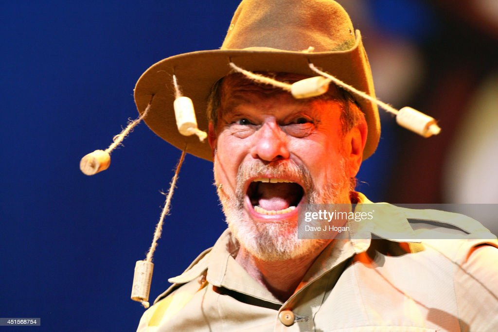 Terry Gilliam performs on the opening night of 'Monty Python Live ' on July 1 2014 in London England