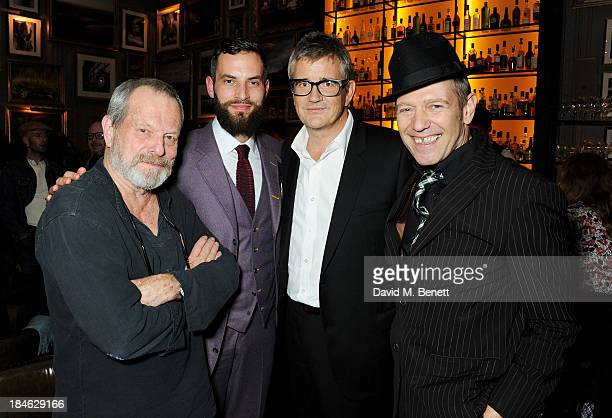 Terry Gilliam Sandro Kopp Jay Jopling and Paul Simonon attend the London EDITION and NOWNESS dinner to celebrate ON COLLABORATION on October 14 2013...
