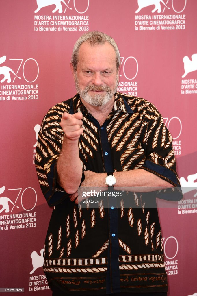 Terry Gilliam wears a Jaeger-LeCoultre Master Memovox watch at the 'The Zero Theorem' photocall during the 70th Venice Film Festival at the Palazzo del Casino on September 2, 2013 in Venice, Italy.