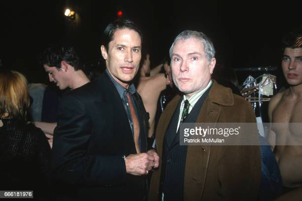Terry Goerin and Glenn O'Brien photographed by Patrick McMullan at Savoia on February 3 2000 in New York City