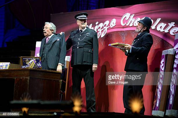 Terry Jones John Cleese and Terry Gilliam perform on the opening night of 'Monty Python Live ' on July 1 2014 in London England