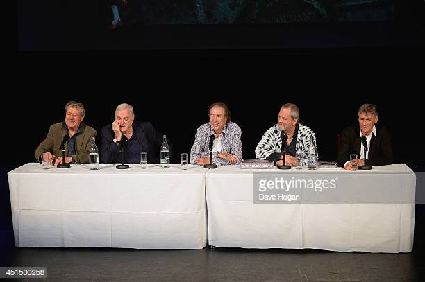 Terry Jones John Cleese Eric Idle Terry Gilliam and Michael Palin attend a press conference ahead of their upcoming tour at the O2 Arena 'Monty...
