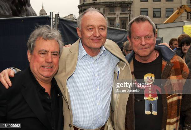 Terry Jones Ken Livingstone London Mayor and Terry Gilliam