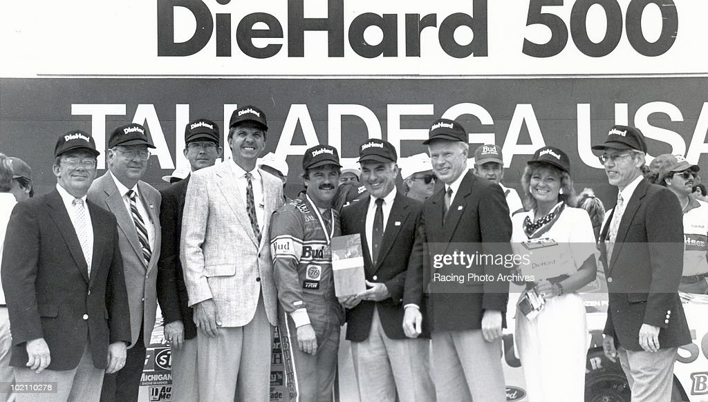 Terry Labonte is greeted in Victory Lane after winning the DieHard 500 Labonte would take home $73920 for the race