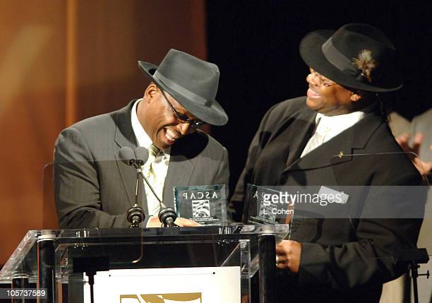 Terry Lewis and Jimmy Jam during ASCAP 18th Annual Rhythm Soul Music Awards Show at Beverly Hilton Hotel in Beverly Hills California United States