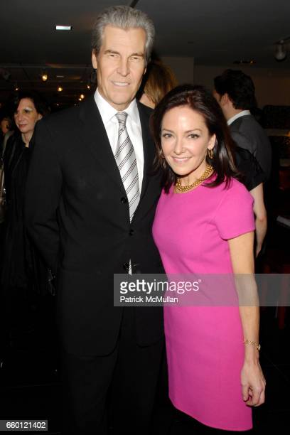 Terry Lundgren and Margaret Russell attend ELLE DECOR and BLOOMINGDALE'S Celebrate Reopening of Furniture Department With Auction Benefitting CFDA at...