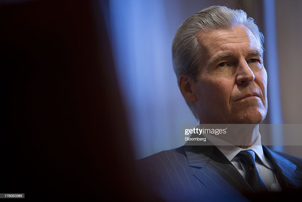 Terry Lundgren, chairman, president and chief executive officer of Macy's Inc., listens during an interview in New York, U.S., on Monday, July 29, 2013. Lundgren recently said the company will not follow other retailers'charge into Canada for now, given the size of the Canadian population and appetite for fashion. Photographer: Scott Eells/Bloomberg via Getty Images