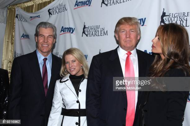 Terry Lundgren Tina Lundgren Donald Trump and Melania Trump attend The 2010 SKATING WITH THE STARS A Benefit Gala for FIGURE SKATING IN HARLEM at...