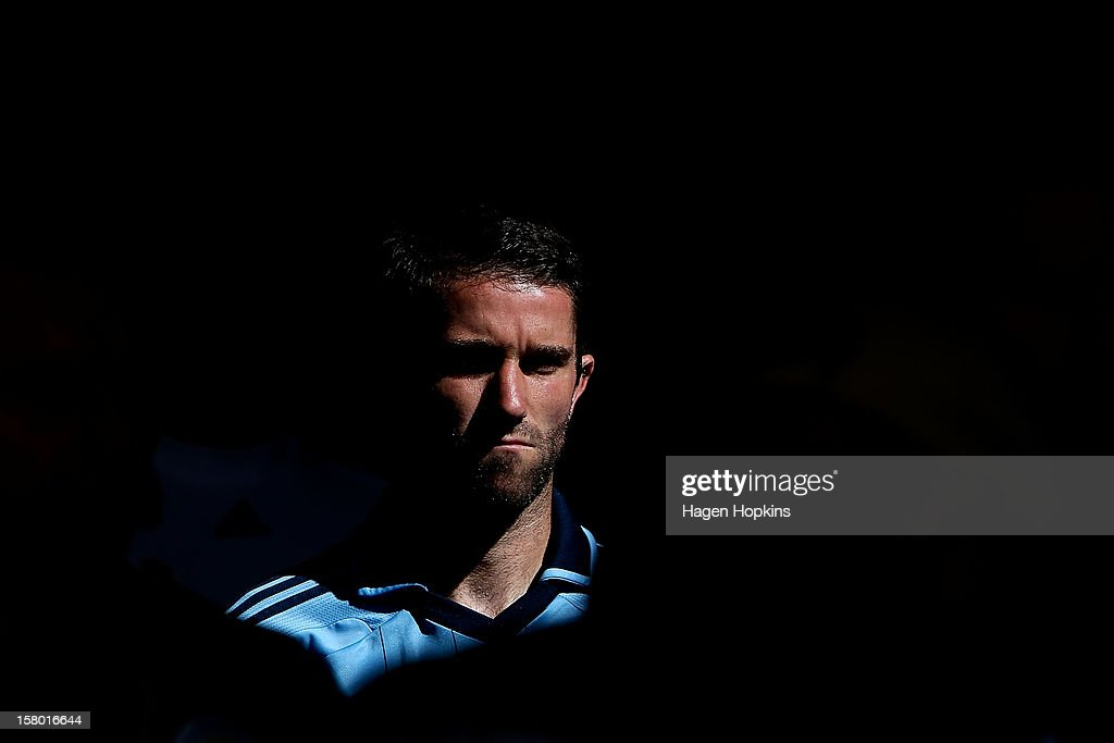 Terry McFlynn of Sydney FC looks on before kick-off during the round 10 A-League match between Wellington Phoenix and Sydney FC at Westpac Stadium on December 9, 2012 in Wellington, New Zealand.
