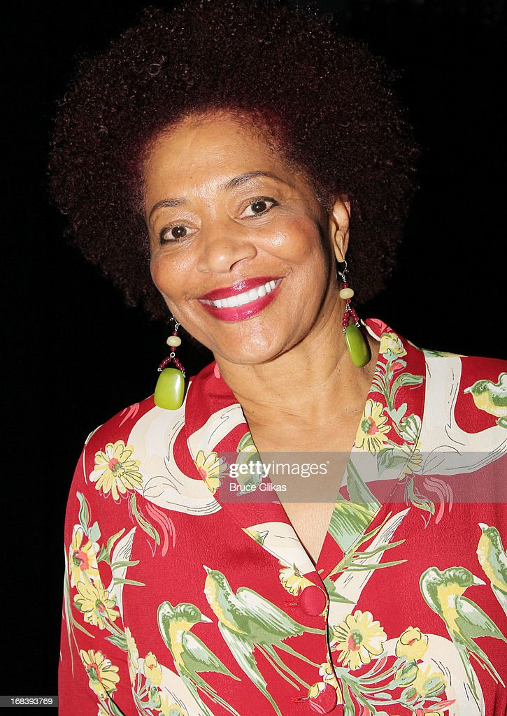 Terry McMillan poses backstage at the Tony Nominated hit musical 'Motown:The Musical' on Broadway at The Lunt-Fontanne Theater on May 8, 2013 in New York City.