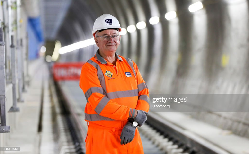 Terry Morgan, chairman of Crossrail Ltd., poses for a photograph during an event in a tunnel near Whitechapel station to celebrate the completion of the permanent Crossrail Ltd. track on the Elizabeth line in London, U.K., on Thursday, Sept. 14, 2017. Crossrail, which will be known as the Elizabeth Line once its up and running, hasnt yet set fares, but transit agency Transport for London has indicated they will be significantly less than Heathrow Express with a charging structure more akin to the Tube. Photographer: Chris Ratcliffe/Bloomberg via Getty Images