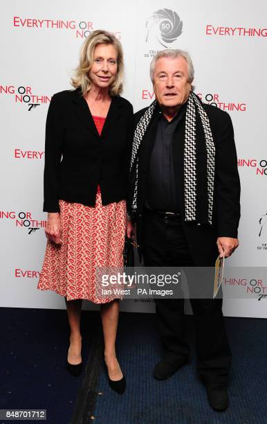 Terry O'Neill and his wife Laraine Ashton arrive at the screening of Everything Or Nothing at the Odeon West End in London