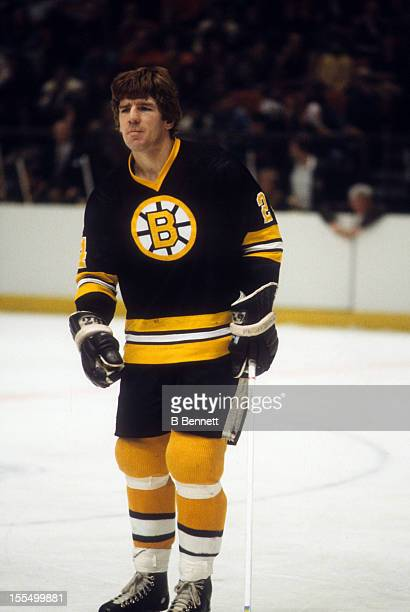 Terry O'Reilly of the Boston Bruins skates on the ice during an NHL game against the New York Rangers on December 17 1978 at the Madison Square...