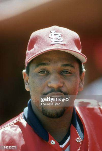 Terry Pendleton of the St Louis Cardinals looks on during an Major League Baseball game circa 1989 Pendleton played for the Cardinals from 198490