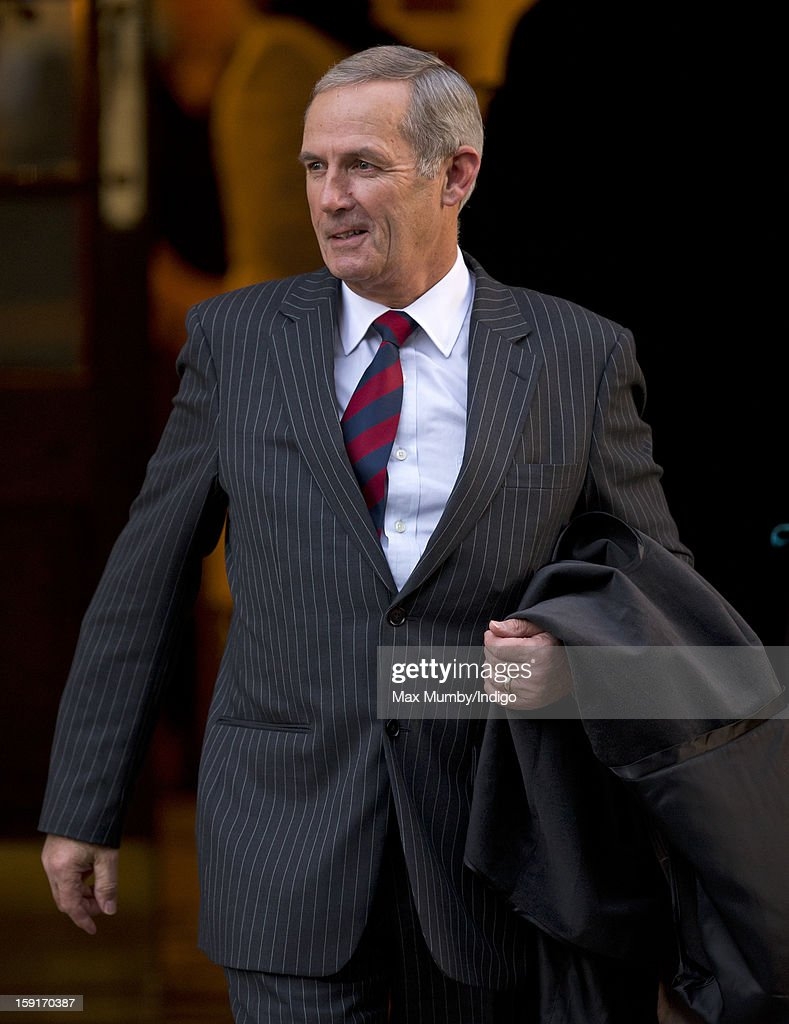 Terry Pendry (Queen Elizabeth II's stud groom) leaves the Goring Hotel after attending a Christmas Lunch hosted by Queen Elizabeth II for her close members of staff on December 03, 2012 in London, England.