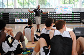 Terry Porter a former twotime NBA allstar and head coach of the Milwaukee Bucks and Phoenix Suns during the International Coaches Clinic 'Jose Luis...