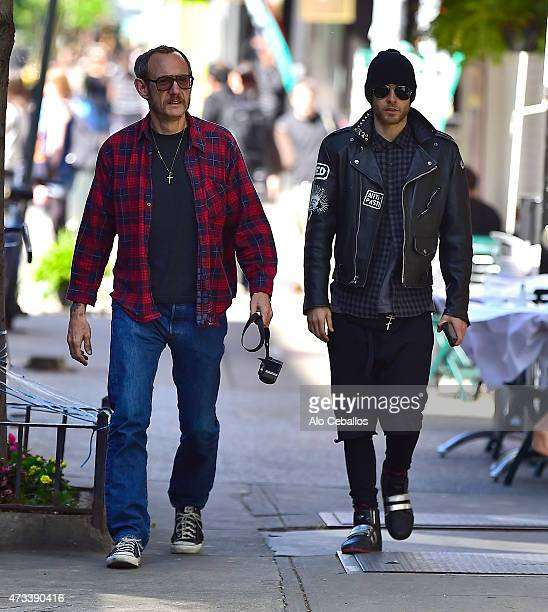 Terry Richardson and Jared Leto are seen in Soho on May 14 2015 in New York City