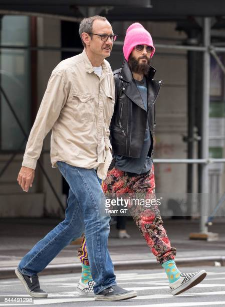 Terry Richardson and Jared Leto seen on September 8 2017 in New York City