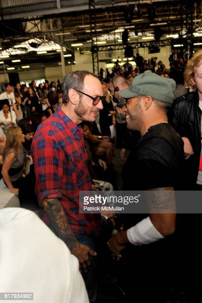 Terry Richardson and Lenny Kravitz attend ALEXANDER WANG Spring 2011 Fashion Show at Pier 94 West Side Highway on September 11 2010 in New York City