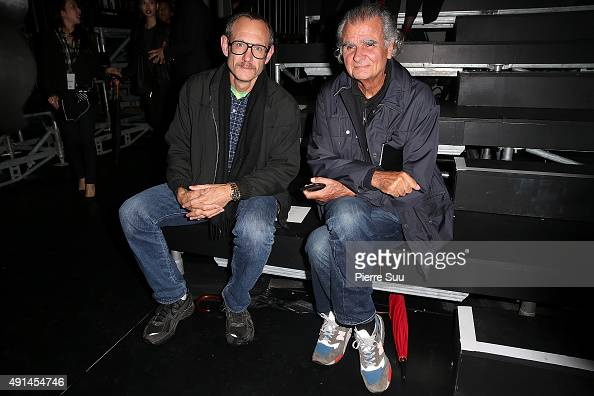 Terry Richardson and Patrick Demarchelier attend the Saint Laurent show as part of the Paris Fashion Week Womenswear Spring/Summer 2016 on October 5...