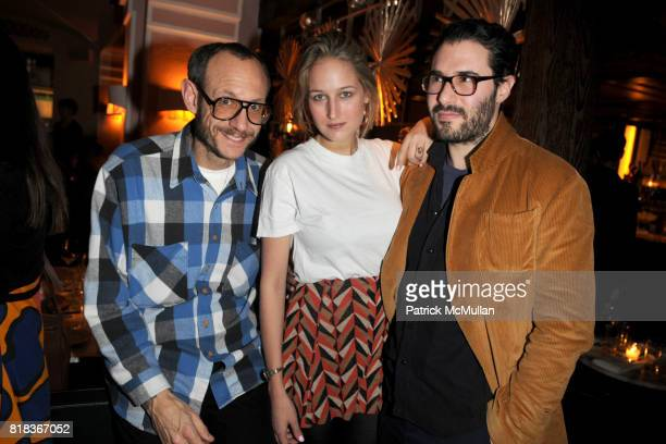Terry Richardson Leelee Sobieski and Adam Kimmel attend The PURPLE Fashion Magazine Dinner at Kenmare on February 14 2010 in New York City