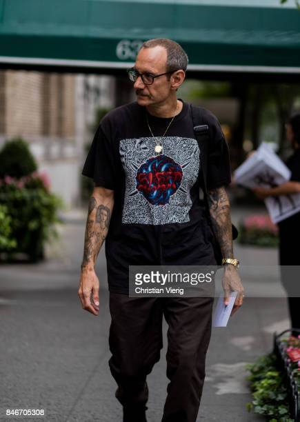 Terry Richardson seen in the streets of Manhattan outside Marc Jacobs during New York Fashion Week on September 13 2017 in New York City