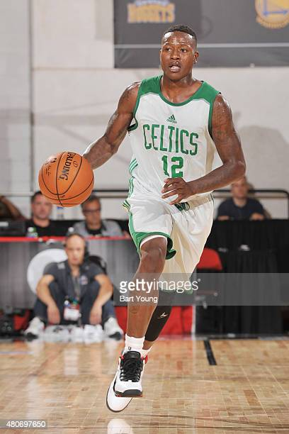 Terry Rozier of the Boston Celtics handles the ball against the Miami Heat on July 14 2015 at The Cox Pavilion in Las Vegas Nevada NOTE TO USER User...